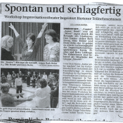 """""""Workshop Improvisationstheater begeistert Hertener Teilnehmerinnen."""""""